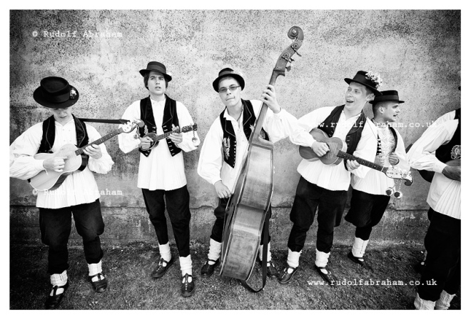 Traditional band accompanying the procession of the Ljelje in Gorjani, near Dakovo, Croatia. Photograph © Rudolf Abraham. All Rights Reserved.