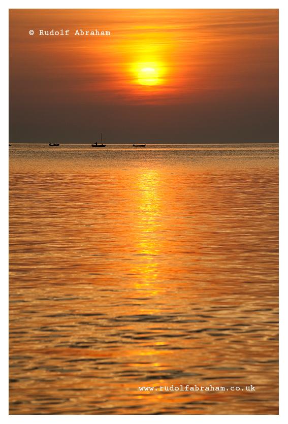 Sunset and fishing boats, Silba, Croatia © Rudolf Abraham