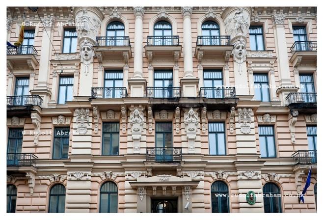 Art Nouveau architecture in Riga, Latvia © Rudolf Abraham