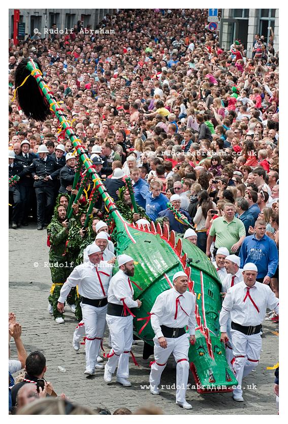 Doudou (Ducasse de Mons) festival in Mons, Belgium, European Capital of Culture 2015 © Rudolf Abraham