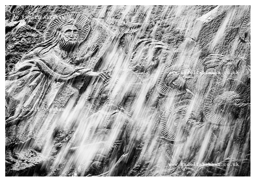 Waterfall with rock carvings and baptistry on the slopes of Rumija, a mountain above Lake Skadar and Stari Bar, Montenegro. © Rudolf Abraham. All Rights Reserved.