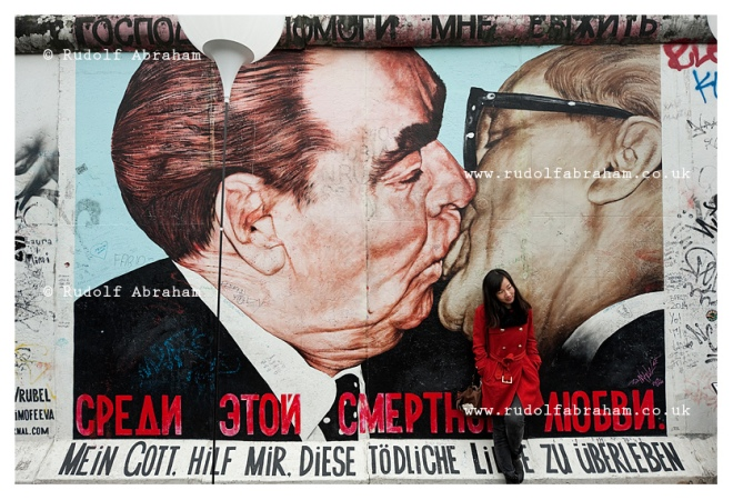 Berlin, Germany (9 November 2014). Street art on a remaining section of the Berlin Wall at East Side Gallery. 9 November 2014 marks the 25th anniversary of the fall of the Berlin Wall. © Rudolf Abraham. All Rights Reserved.