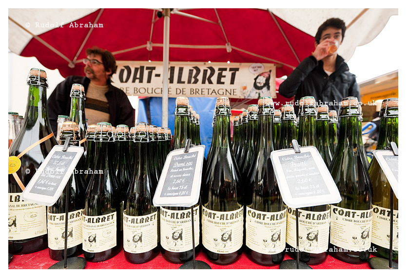 Saturday market on Place des Lices in Rennes, Brittany, France, travel photography © Rudolf Abraham