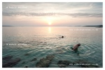 Sunset swimmers, on the island of Silba, Croatia, travel photography © Rudolf Abraham