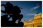 St George and the Dragon by Anton Dominik Fernkorn, and the Croatian National Theatre, Zagreb, Croatia © Rudolf Abraham