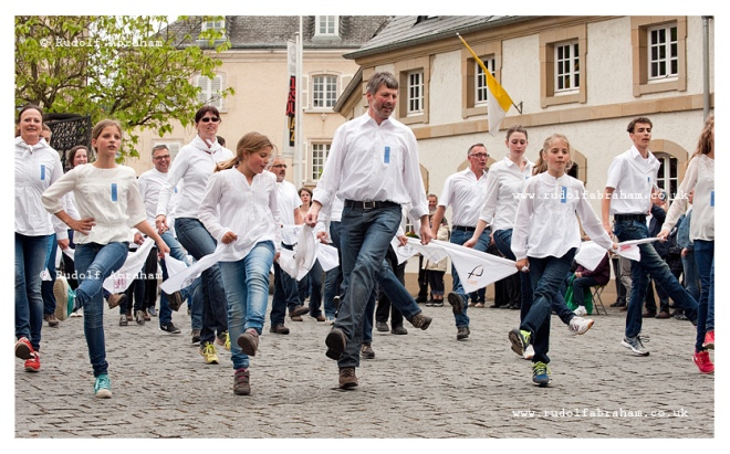 Dancing procession pf Echternach Luxembourg photography UNESCO © Rudolf Abraham