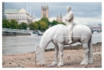 Thames horses sculpture London 2015
