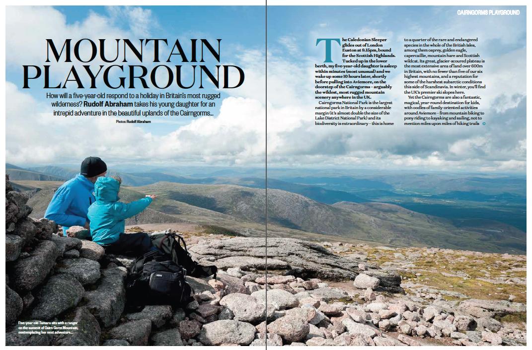 Mountain Playground - Cairngorms for Kids. BBC Countryfile magazine. © Rudolf Abraham