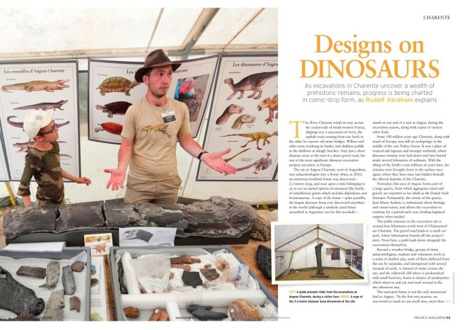 Designs on Dinosaurs by Rudolf Abraham, France magazine Oct2016-